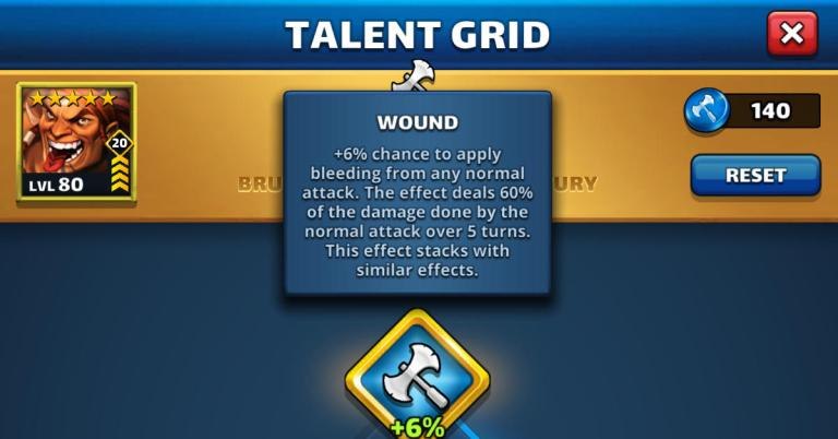 Empires and Puzzles Talent Grid Guide + Attack or Defense?