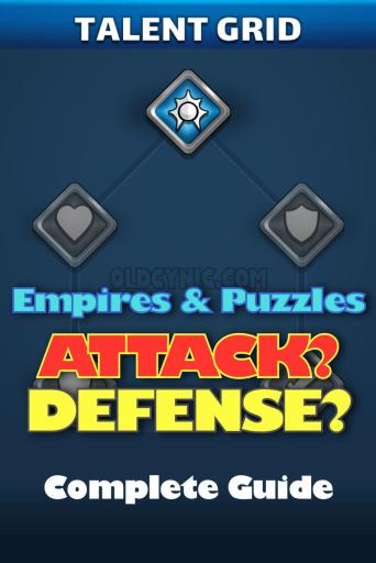 Empires and Puzzles Talent Grid Guide (attack or Defense)?