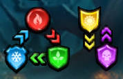 Screenshot of Empires and Puzzles Tile Damage Chart