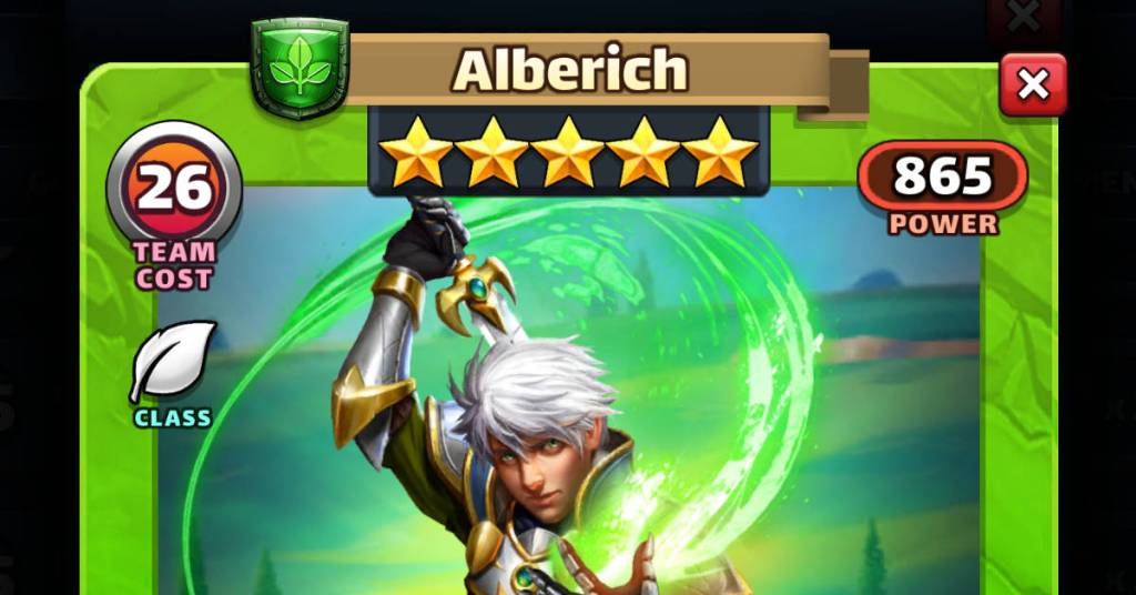 Alberich HotM Empires and Puzzles Feat