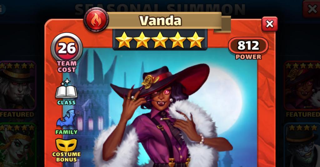 Costume Vanda Empires and Puzzles FEAT