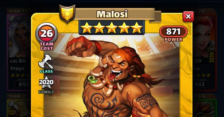 How Good is Malosi? Empires and Puzzles HotM Review
