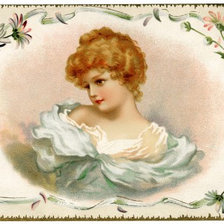 Pretty Lady Victorian Trade Card