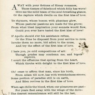 First Kiss of Love Vintage Poem