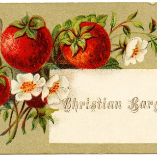 Strawberry Victorian Calling Card