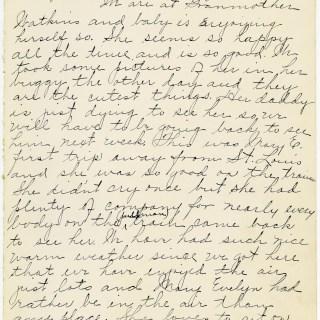Vintage Baby Book Handwritten Page