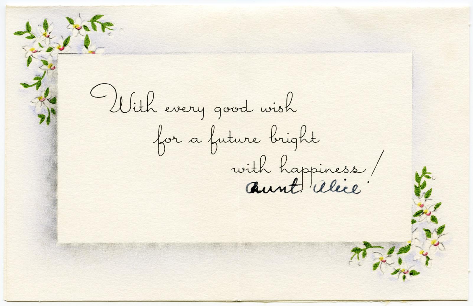 Wedding Gift Card Note : Vintage Engagement Gift Card Old Design Shop Blog