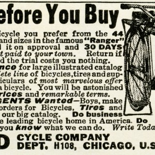 Vintage Mead Bicycle Ad 1919