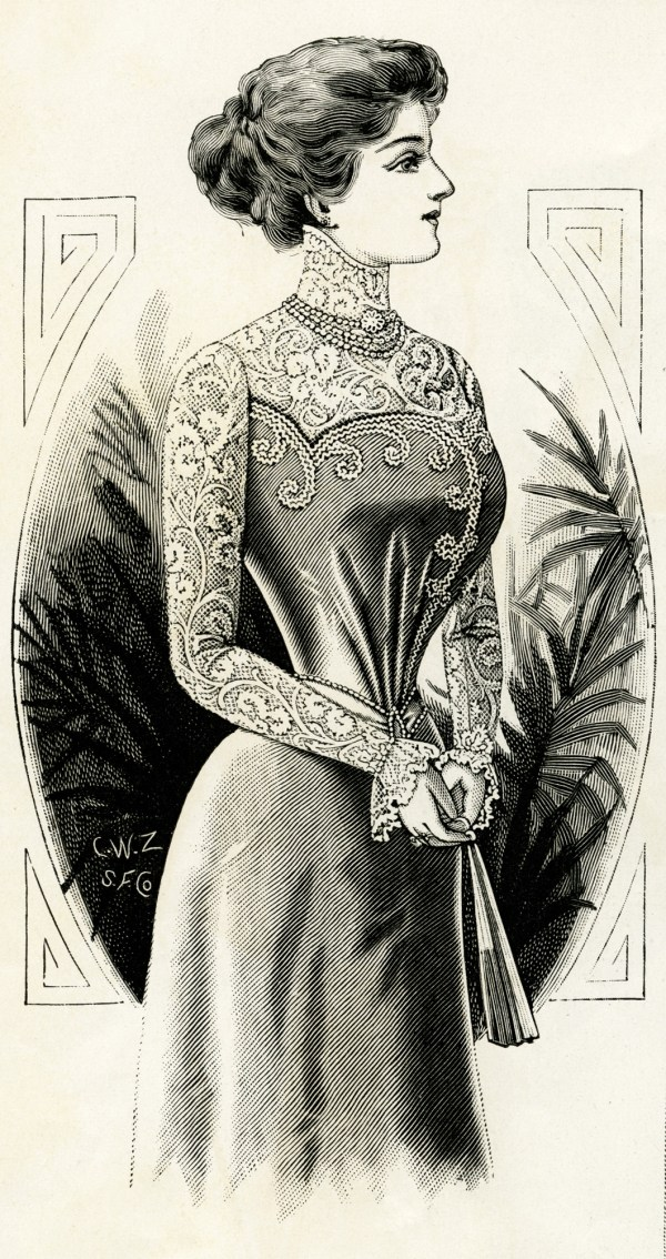 Free Vintage Victorian Lady 1899 - Design