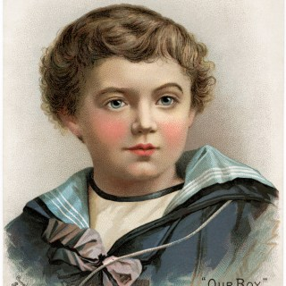 Victorian Boy ~ Scott's Emulsion Advertising Card