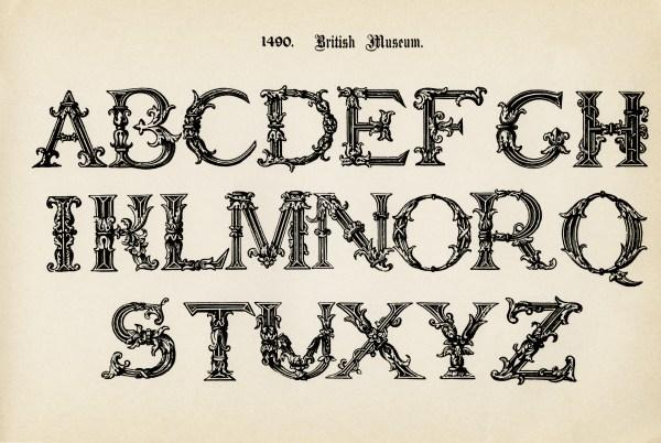 british museum vintage alphabet