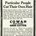 free vintage clipart, vintage hair cutting advertisement, cowan hair cutting antique ad, cut your own hair, digital image for graphic design, masculine vintage image for scrapbooking