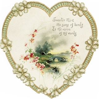 Heart Shaped Scenic Card