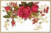 Free Vintage Floral Clip Art Red Rose - Old Design Shop Blog
