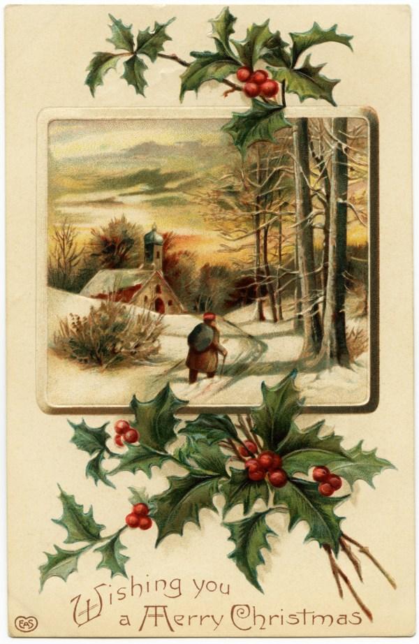 free vintage merry christmas
