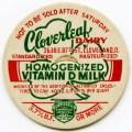 cloverleaf dairy, old milk cap, cardboard milk lid, free vintage milk bottlecap, free vintage christmas color ephemera