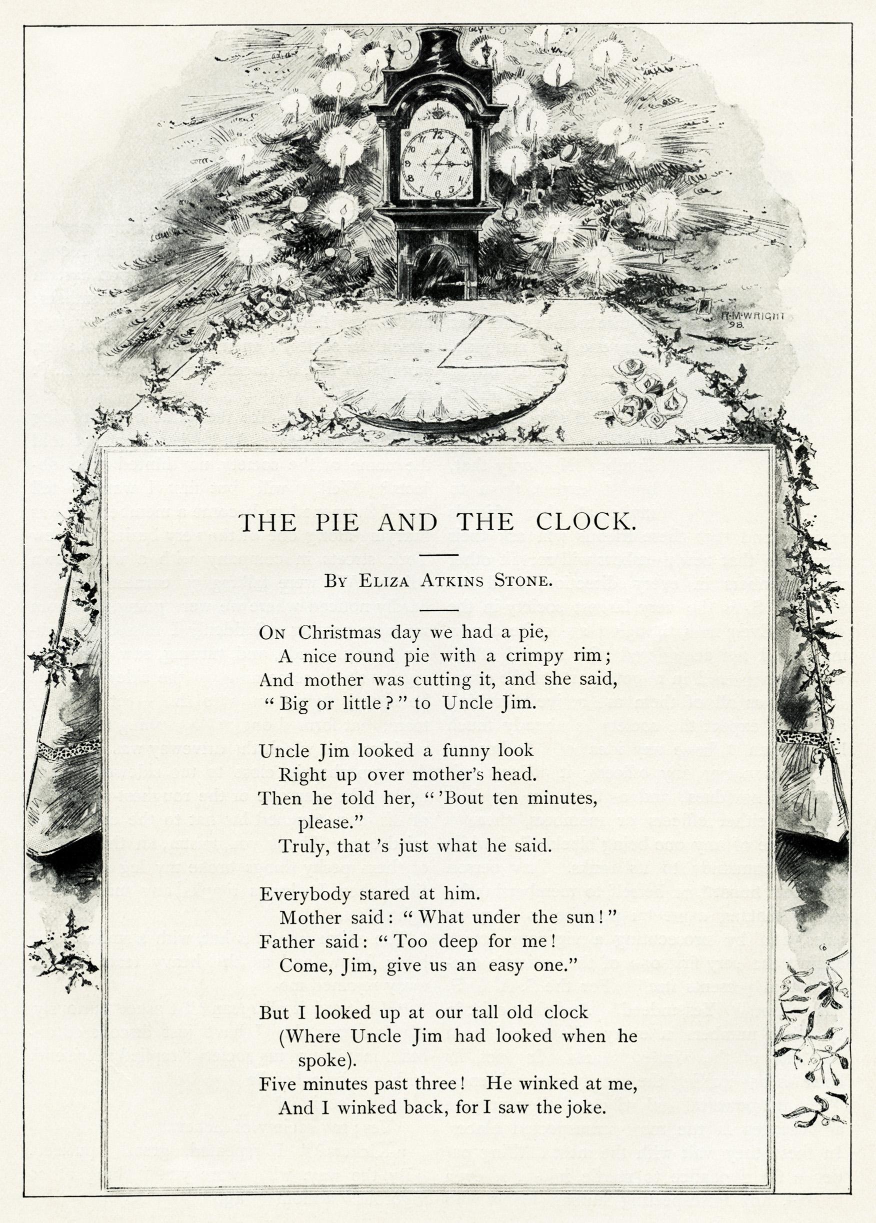 Christmas Poem By Eliza Stone Old Design Shop Blog