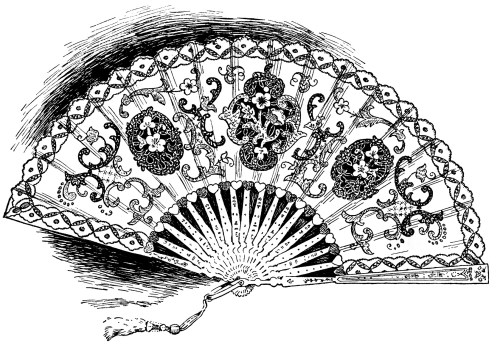small resolution of free vintage fancy ladies hand held fan clip art illustration
