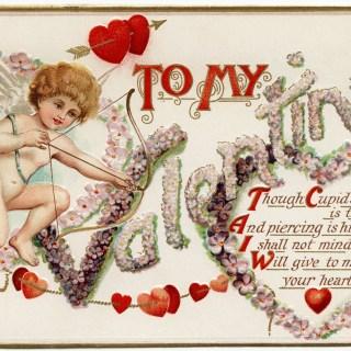 Free Vintage Image ~ Cupid Valentine Postcard