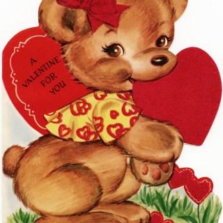 Free Vintage Image ~ Valentine Bear