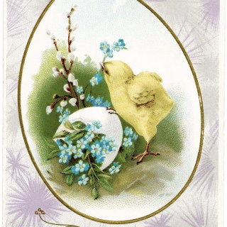 Free Vintage Image ~ Easter Greetings Postcard