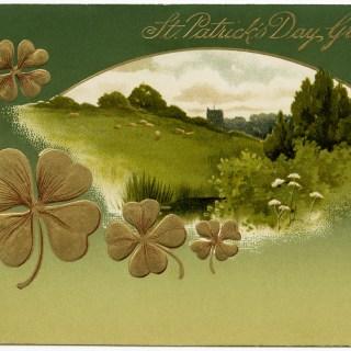Free Vintage Image ~ St Patrick's Day Postcard