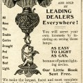 vintage magazine advertisement, bradley hubbard lamp, antique lamp clipart, printable lamp image, black and white digital clip art
