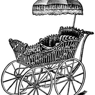 Free Vintage Image ~ Elegant Baby Carriage