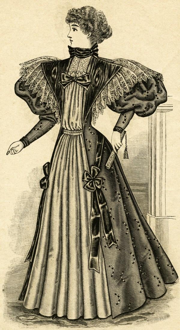victorian ladies dress clip art