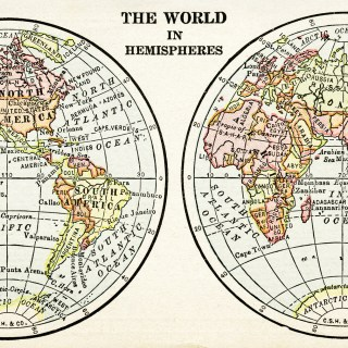 Free Vintage Image ~ The World in Hemispheres