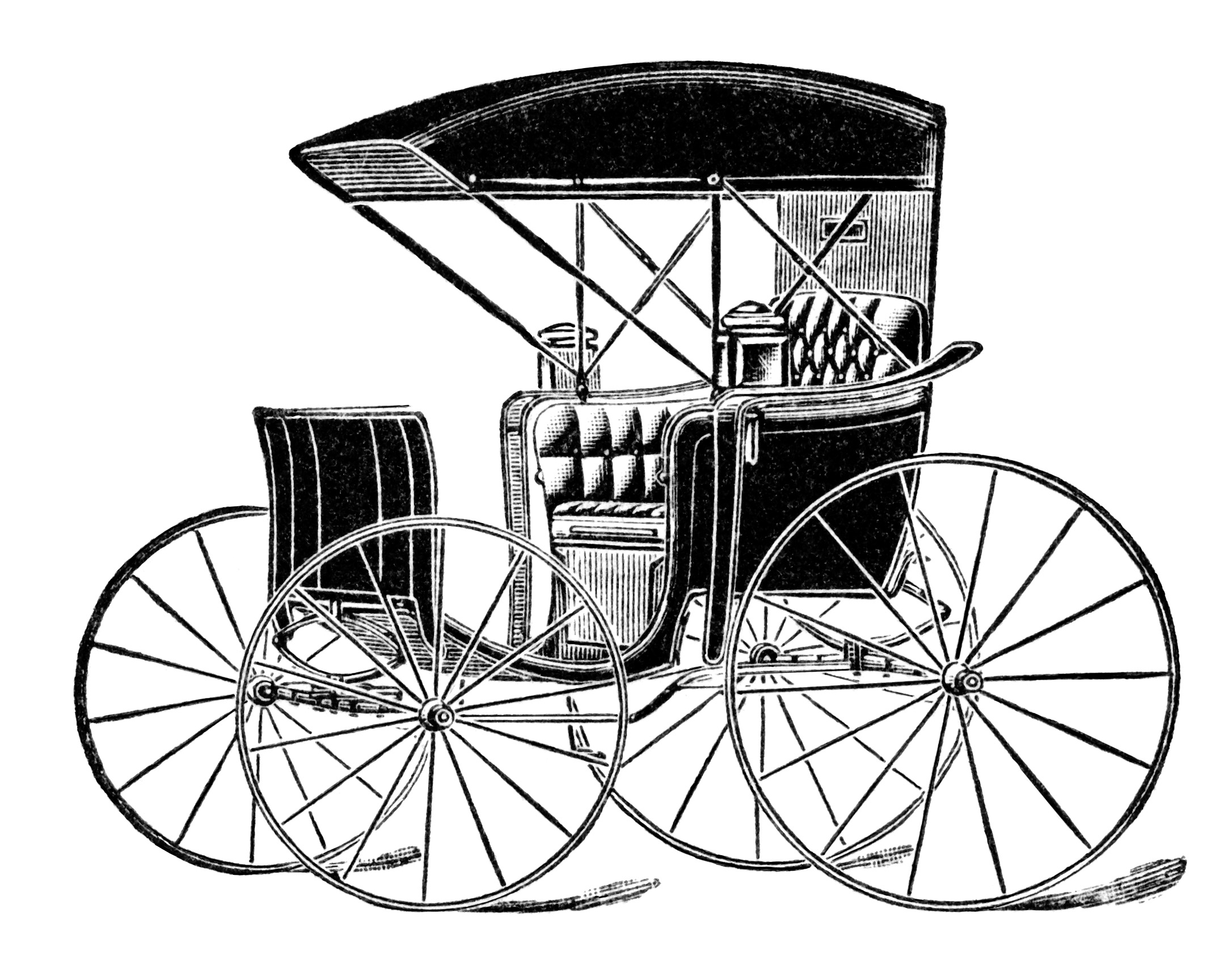Horse Drawn Carriage Ad and Clip Art | Old Design Shop Blog