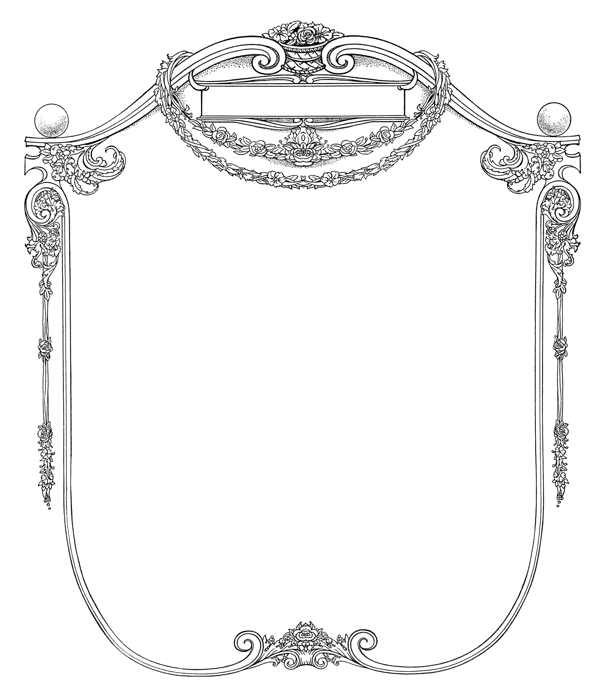 Grungy Page And Ornate Frame
