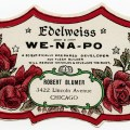 edelweiss wenapo, vintage beauty label, victorian perfume graphics, antique cosmetics bottle label, free vintage ephemera