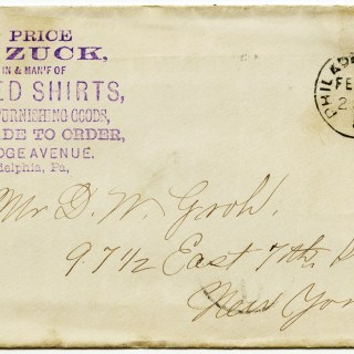 Free Vintage Image ~ Antique Envelope Postmarked 1887