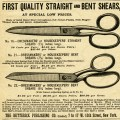 free vintage magazine advertisement, vintage clip art scissors, black and white sewing clipart, printable sewing graphics, old fashioned advertising image