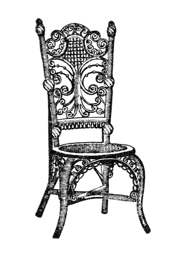 Ornamental Reception Chair Clip Art Design