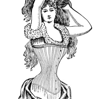 Free Vintage Image ~ Her Majesty's Corset