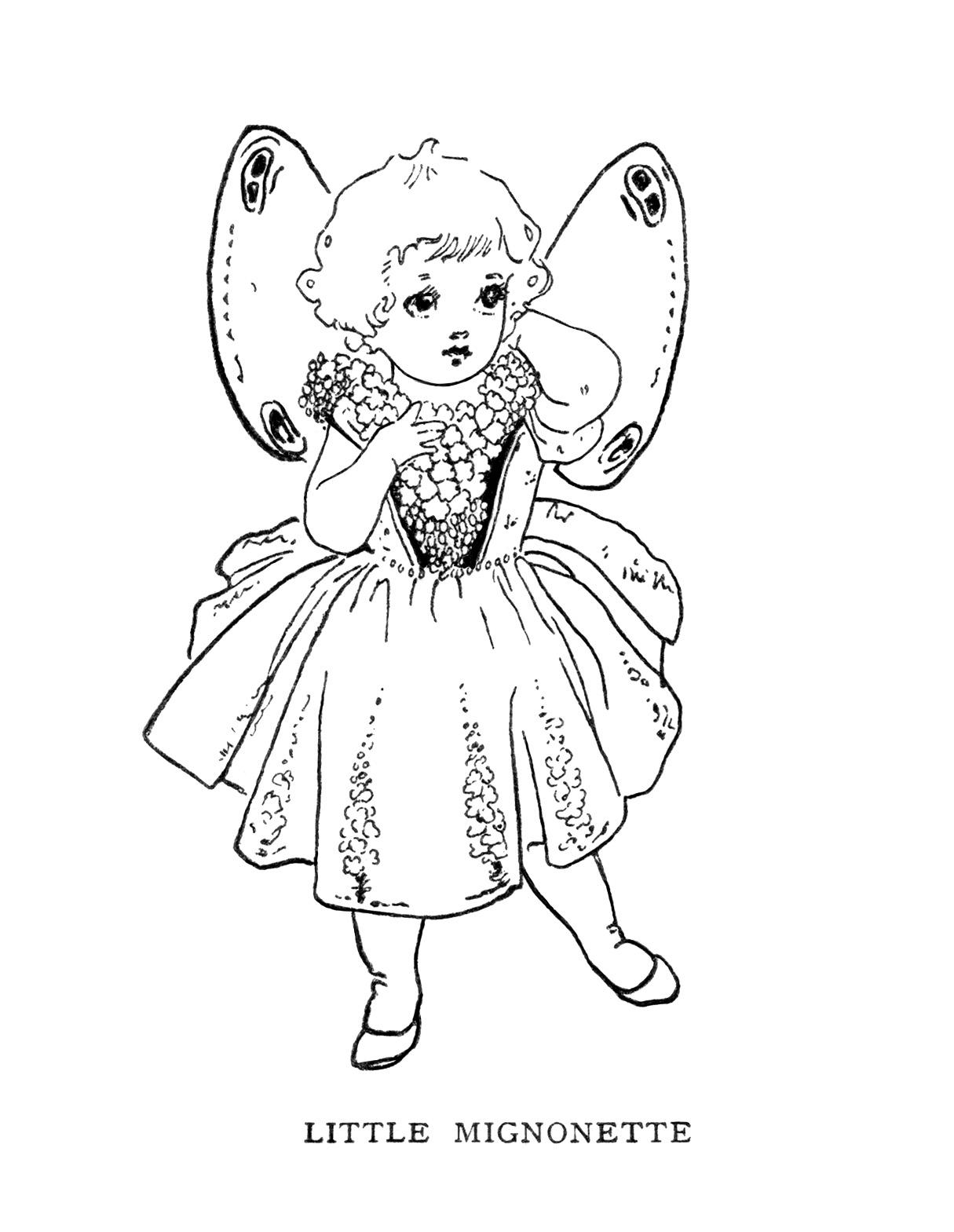 Free Vintage Image Little Mignonette Storybook Character