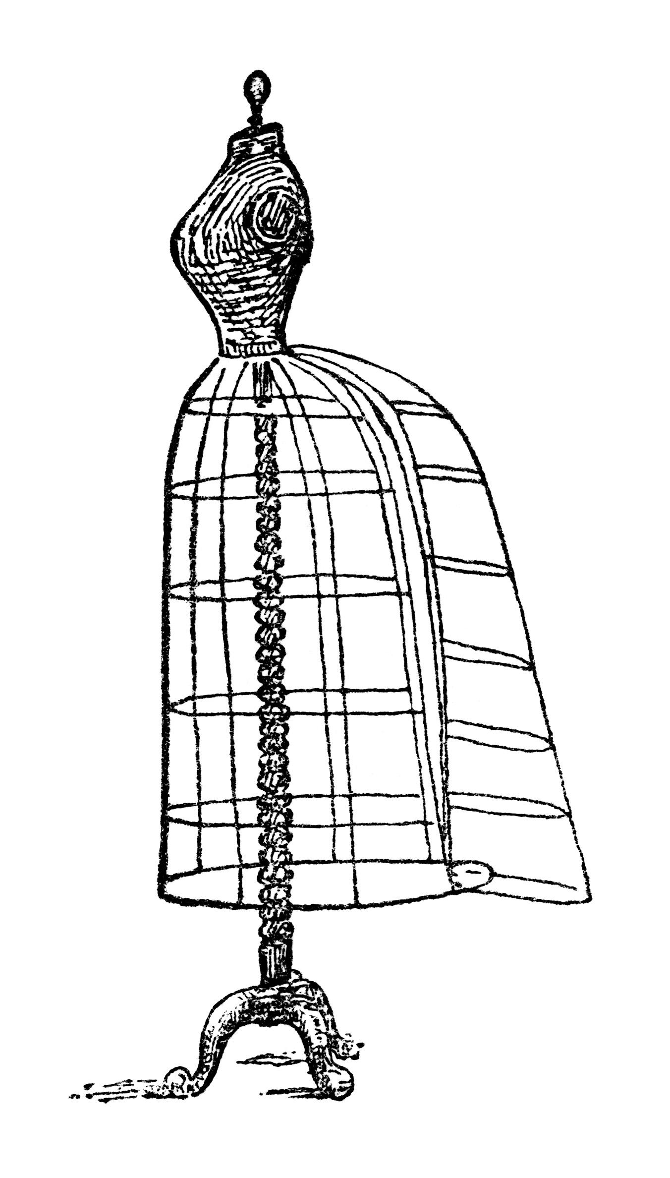 vintage dresses clipart - photo #32