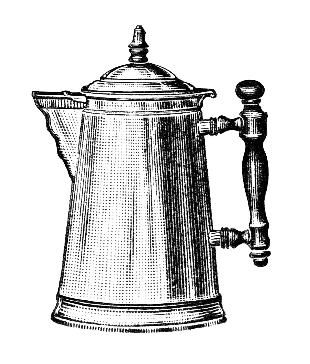 Free Kitchen Catalogs: Free Vintage Image Coffee Pots Clip Art