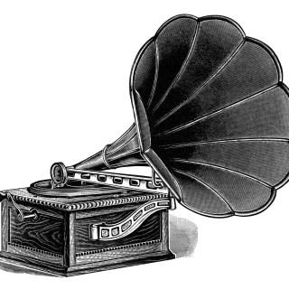 Talking Machine ~ Free Vintage Clip Art