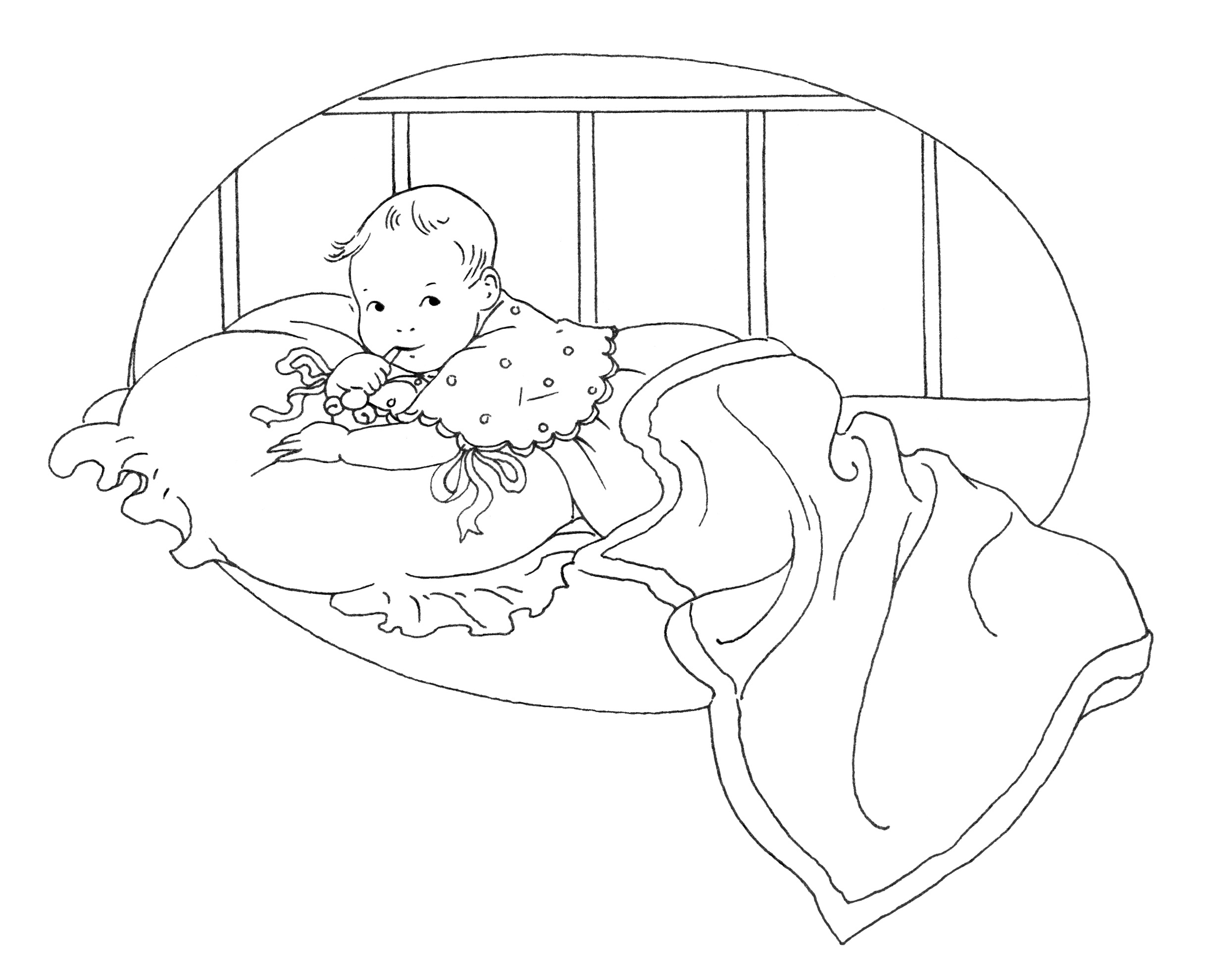 Baby S First Tooth Vintage Clip Art