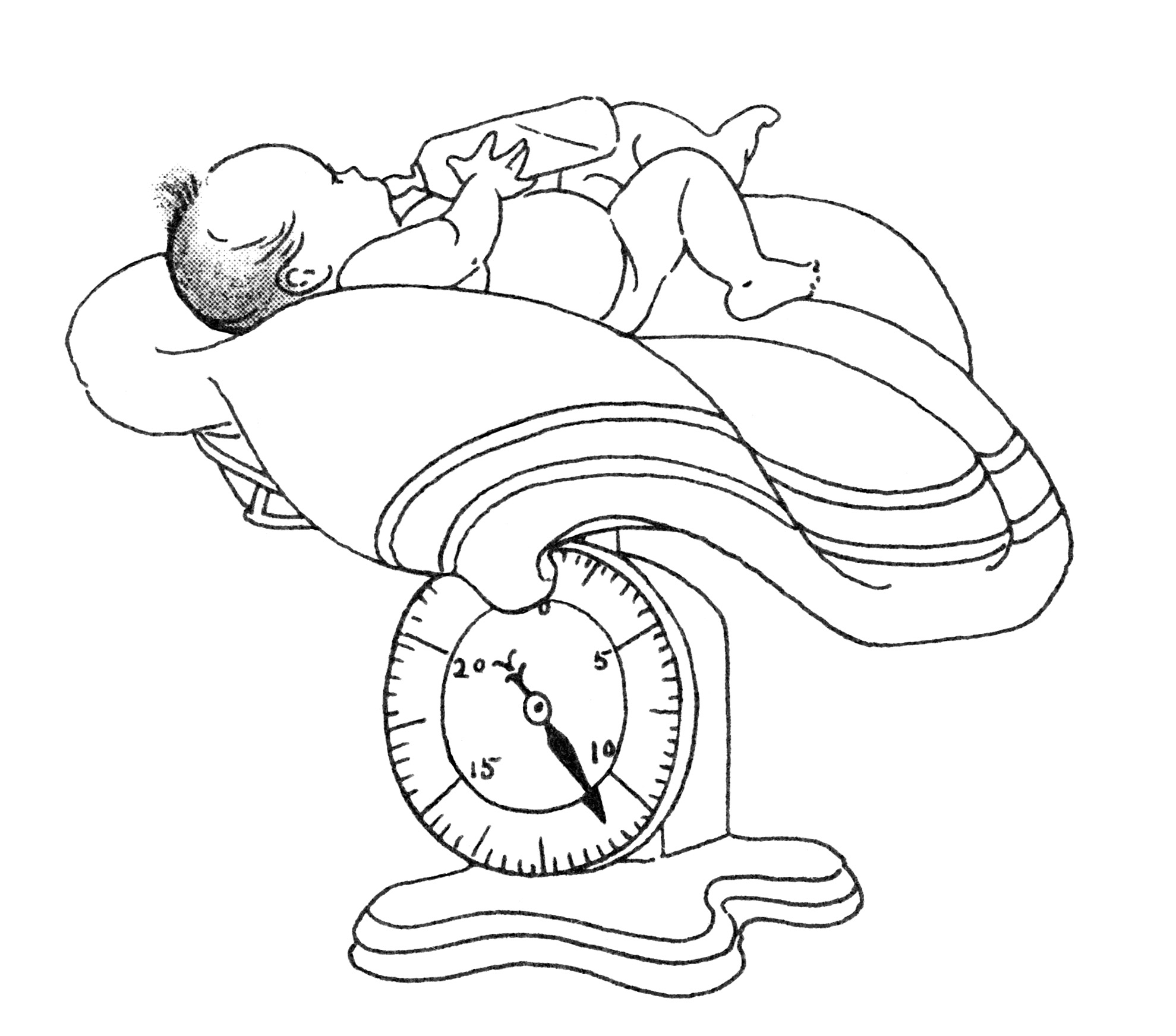 Baby S Weight Free Vintage Clip Art