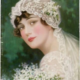 Free Vintage 1915 Bride Image