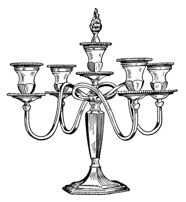 vintage candelabra free clip