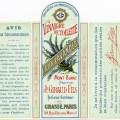jn giraud fils, vintage French perfume label, vinaigre de toilette aux lavandes, antique perfume graphic, printable French ephemera