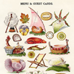 Now Available in my Etsy Shop ~ Mrs. Beeton's Menu and Guest Cards