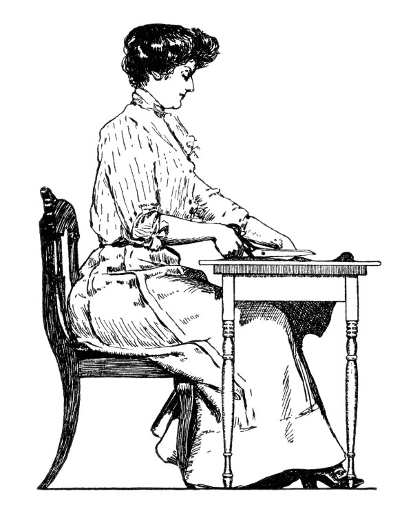 free vintage dressmakers clip art