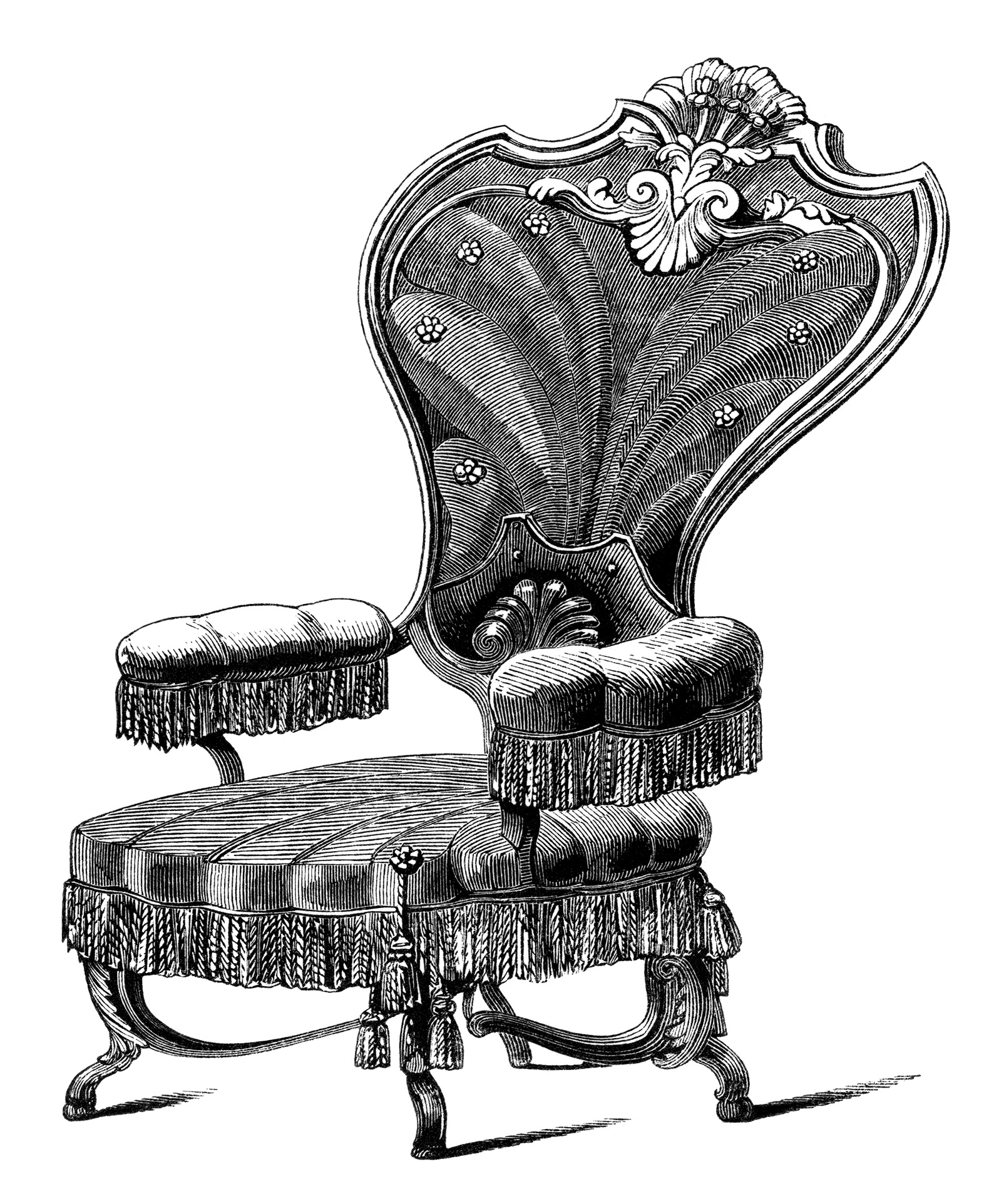 Antique Chair Antique Chairs Free Clip Art Engravings Old Design