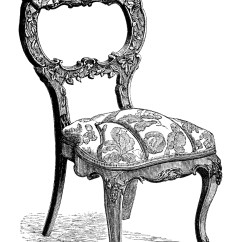 Retro White Chair High Table And Chairs Outdoor Antique Free Clip Art Engravings Old Design